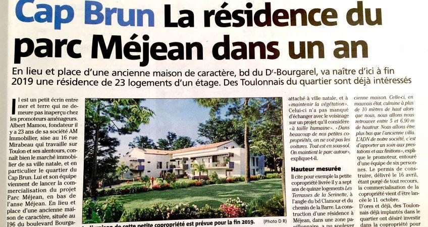 Article Var Matin Parc Méjean